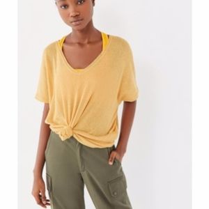 URBAN OUTFITTERS YELLOW FRANKIE OVERSIZED THERMAL